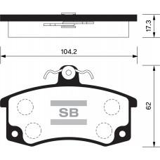SP 1181 Колодки тормозные передние Datsun, ВАЗ 2110/2111/2112 с датчиком передние