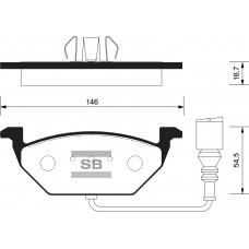 Колодки тормозные AUDI A3 >03/VW G4/G5/SKODA OCTAVIA 1.4/1.6/1.9D передние