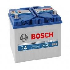 Аккумулятор BOSCH 60 а/ч 540А 'S4 024' Asia type, 232x173x225, Обратная 0 092 S40 240