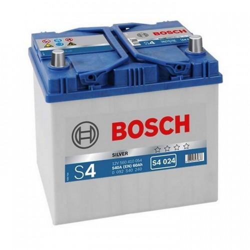 """Аккумулятор BOSCH 60 а/ч 540А """"S4 024"""" Asia type, 232x173x225, Обратная 0 092 S40 240"""