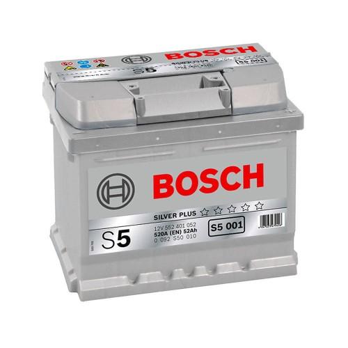 """Аккумулятор BOSCH """"S5 001"""" 52 а/ч 520 А, 207x175x175, Обратная 0 092 S50 010"""