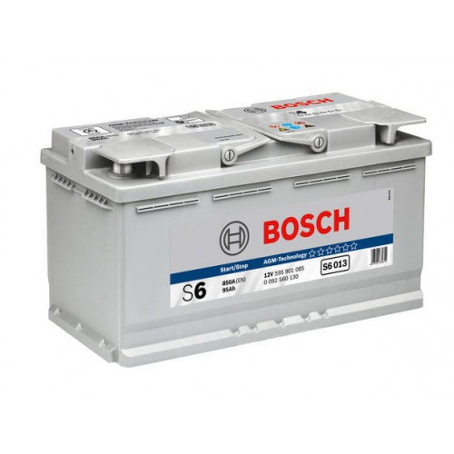 "Аккумулятор BOSCH ""S5 A13 (S6 013)"" AGM, 95ah 850A, 353x175x190, Обратная 0 092 S60 130"