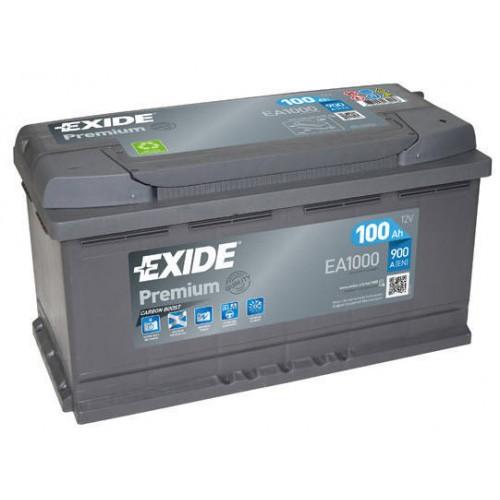 Аккумулятор Exide Premium EA1000, 100 А/ч 900 A, 353x175x190, Обратная полярность (-+)