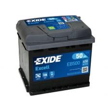 Аккумулятор Exide Excell, 50 а/ч 450 A, 207x175x190, Обратная