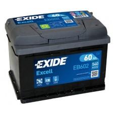 Аккумулятор Exide Excell, 60 а/ч 540 A, 242x175x175, Обратная