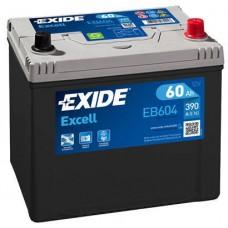 Аккумулятор Exide Excell, 60 а/ч 390 A, 230x173x222, Обратная