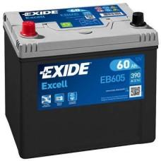 Аккумулятор Exide Excell, 60 а/ч 390 A, 230x173x222, Прямая