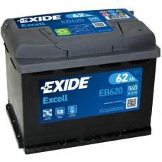 Аккумулятор Exide Excell, 62 а/ч 540 A, 242x175x190, Обратная