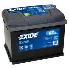Аккумулятор Exide Excell, 62 а/ч 540 A, 242x175x190, Прямая