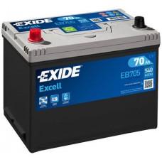 Аккумулятор Exide Excell, 70 а/ч 540 A, 270x173x222, Прямая