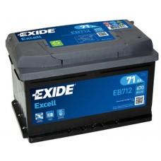 Аккумулятор Exide Excell, 71 а/ч 670 A, 278x175x175, Обратная
