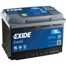 Аккумулятор Exide Excell, 74 а/ч 680 A, 278x175x190, Обратная
