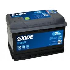 Аккумулятор Exide Excell, 74 а/ч 680 A, 278x175x190, Прямая
