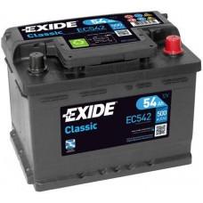 Аккумулятор Exide Classic, 54 а/ч 500 A, 242x175x175, Обратная