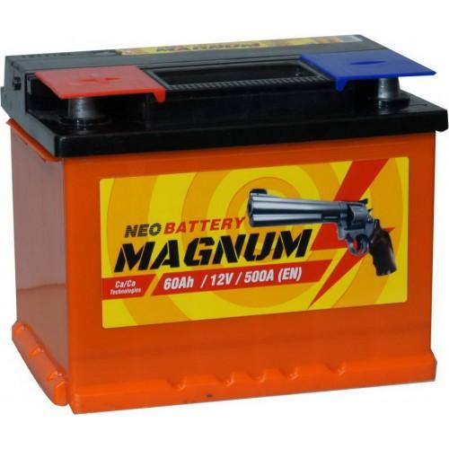Аккумулятор MAGNUM 60 А/ч 500 А, Прямая полярность (+-)