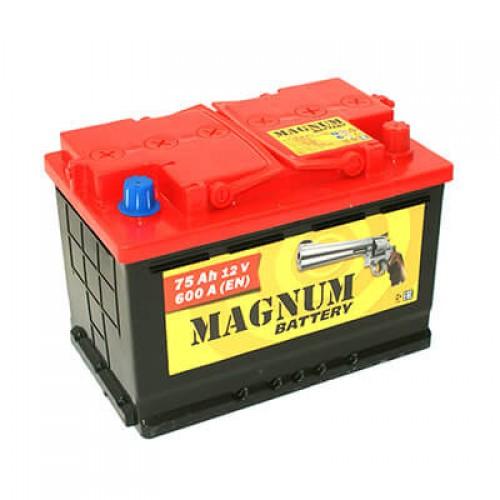Аккумулятор MAGNUM 75 А/ч 590 А, Обратная полярность (-+)
