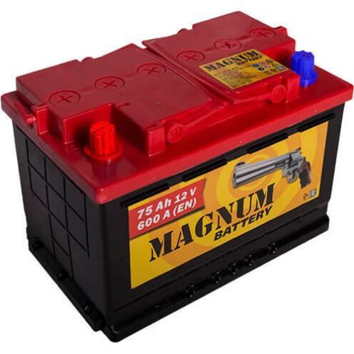 Аккумулятор MAGNUM 75 А/ч 590 А, Прямая полярность (+-)