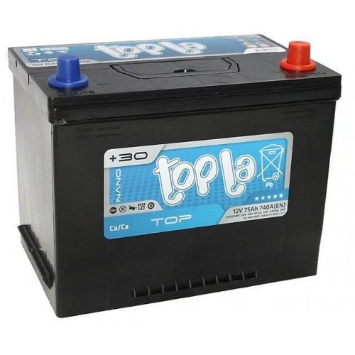 Аккумулятор TOPLA TOP ASIA 75 А/ч 740 А, Обратная полярность (-+)