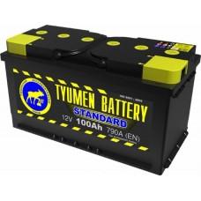 Аккумулятор Тюмень 6ст-100L Standart, 100 а/ч 790 A, 352x175x190, Прямая