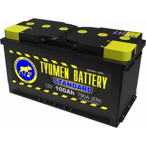 Аккумулятор Тюмень 100 А/ч 790 A, 352x175x190, 6СТ-100L Прямая полярность (+-)