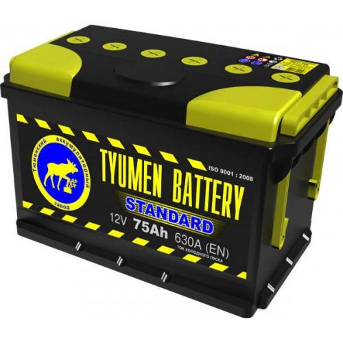 Аккумулятор Тюмень 75 А/ч 630 A, 306x175x190, 6СТ-75L Обратная полярность (-+)