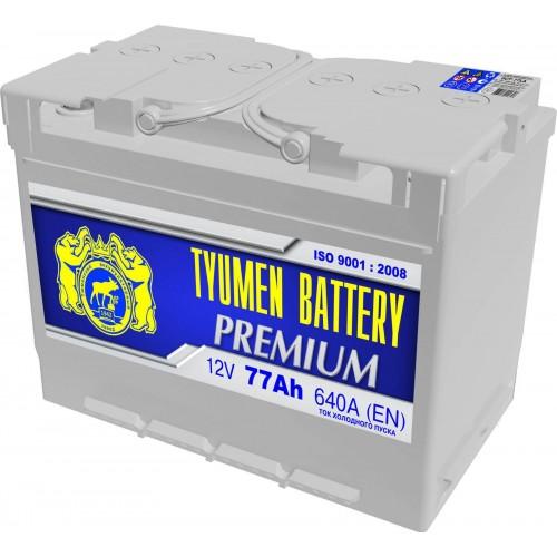 Аккумулятор Тюмень Premium 77 А/ч 640 A, 278x175x190, 6ст-77LA Обратная полярность (-+)