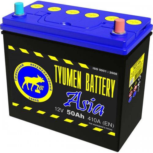 Аккумулятор Тюмень ASIA 50 А/ч 410 A 236x128x223, 6СТ-50 Прямая полярность (+-)