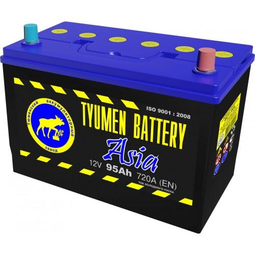 Аккумулятор Тюмень ASIA, 95 А/ч 720 A, 306x173x222, 6СТ-95 Обратная полярность (-+)