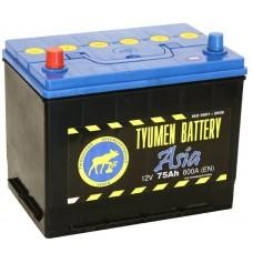 Аккумулятор Тюмень ASIA 75 А/ч 560 A, Прямая полярность