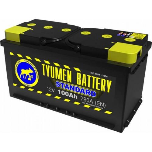 Аккумулятор Тюмень 100 А/ч 790 A, 352x175x190, 6CT-100L Обратная полярность (-+)