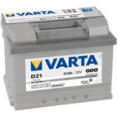 Аккумулятор Varta Silver Dynamic D21, 61 а/ч 600 A, 242x175x175, Обратная