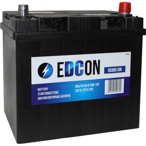 Аккумулятор автомобильный eDCon 60 А/ч 510 А, 232x173x225, Обратная полярность (-+)