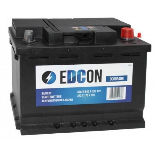 Аккумулятор автомобильный eDCon 60 А/ч 540 А, 242x175x190, Обратная полярность (-+)