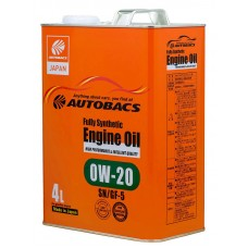 AUTOBACS Fully Synthetic 0W-20 SN/GF-5, 4 литра
