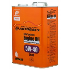 AUTOBACS Fully Synthetic 5W-40 SN/CF, 4 литра