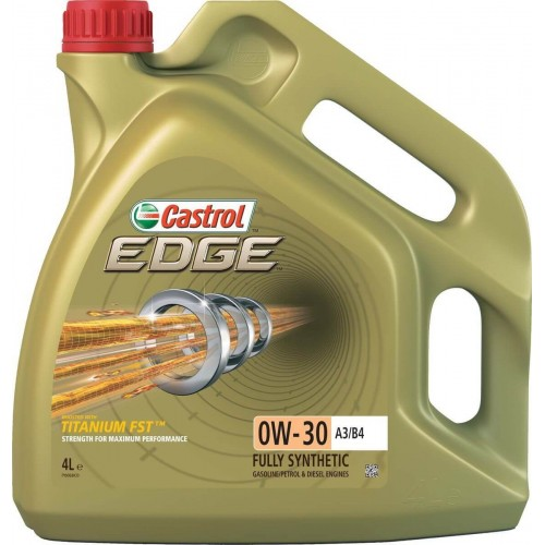 Моторное масло CASTROL EDGE A3/B4 Titanium FST 0W30, 4 литра,