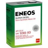 для дизельных ДВС ENEOS SUPER DIESEL CG-4 10W40, 4 литра