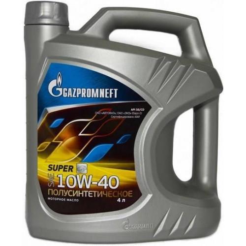 Моторное масло Газпромнефть Super 10W40, 4 литра, полусинтетическое