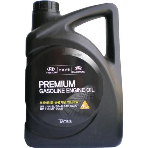 Моторное масло HYUNDAI Premium Gasoline 5W20, 4 литра, полусинтетическое