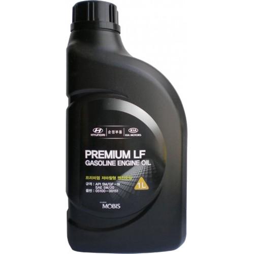 Моторное масло HYUNDAI Premium LF Gasoline 5W20, 1 литр, полусинтетическое