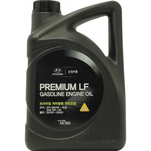 HYUNDAI Premium LF Gasoline 5W20, 4 литра