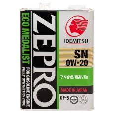 IDEMITSU Zepro Eco Medalist 0W20, 4 литра