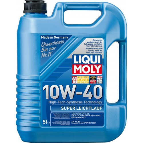 Liqui Moly Super Leichtlauf 10W40, 5 литров