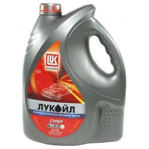 Моторное масло ЛУКОЙЛ 10W40 Супер, 5 литров, полусинтетическое
