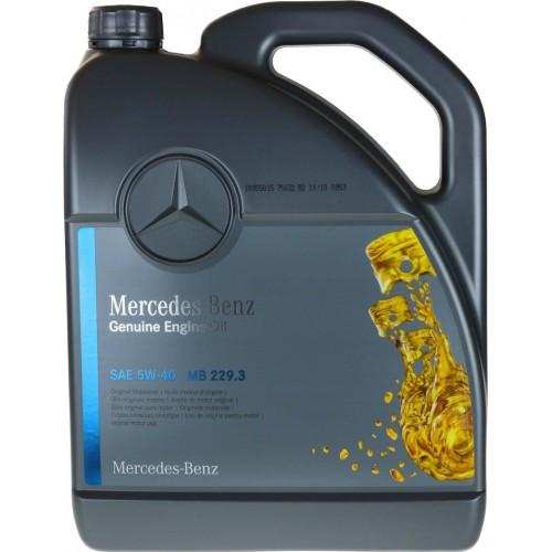 Моторное масло MERCEDES PKW Motorenol 229.3 5W40, 5 литров, синтетическое