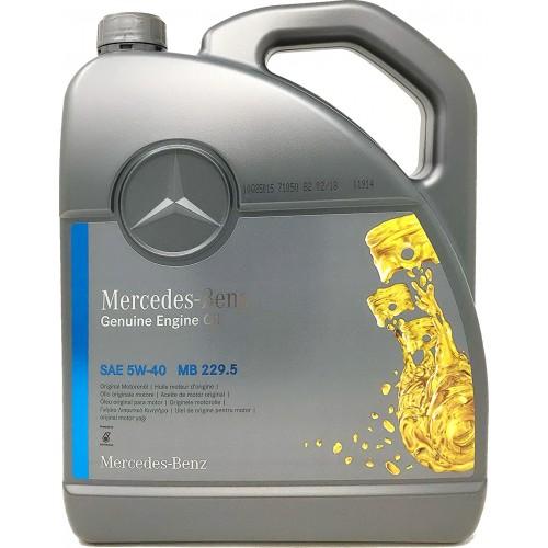 MERCEDES PKW Motorenol 229.5 5W-40, 5 литров