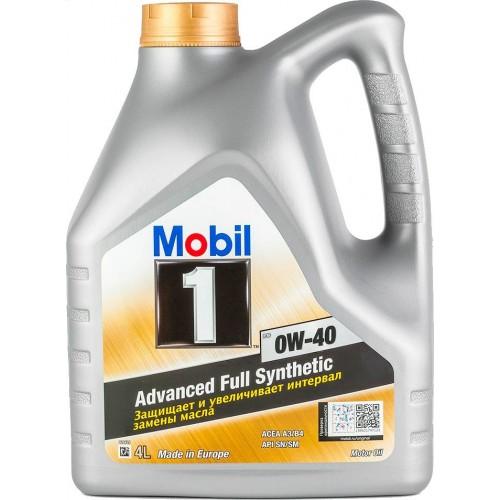 Моторное масло MOBIL 1 FS 0W40, 4 литра,