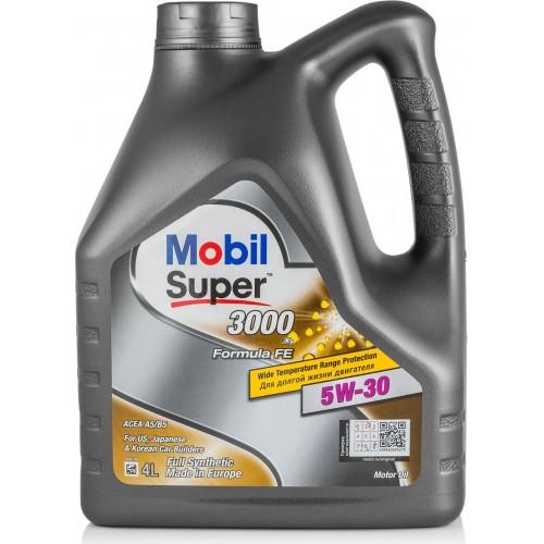 Моторное масло MOBIL Super 3000 X1 Formula FE 5W30, 4 литра,