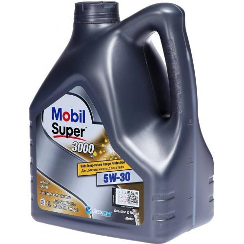 Моторное масло MOBIL Super 3000 XE 5W30, 4 литра,