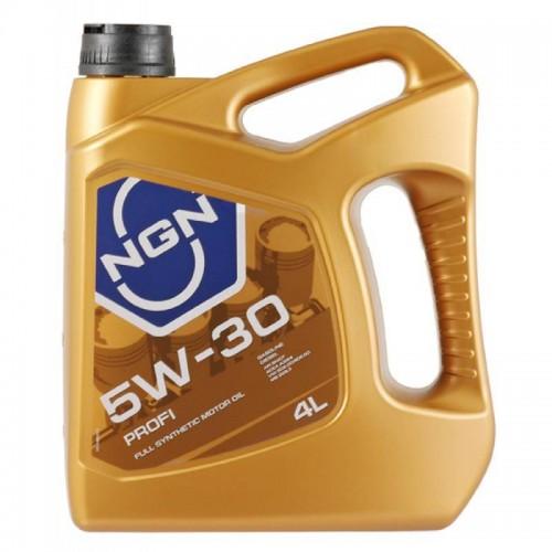 Моторное масло NGN PROFI 5W30, 4 литра, синтетическое
